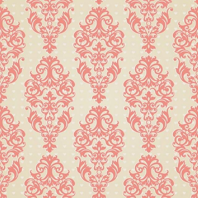 HUAYI Pink Damask Wallpaper Chic Photography Newborn Backdrop D7947