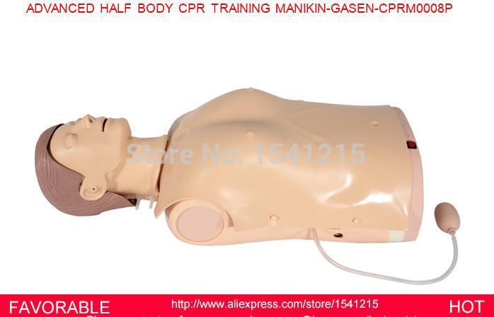 ADVANCED BODY CPR TRAINING MANIKIN MODEL , FIRST AID MANIKIN, MALE CPR MANIKIN, HALF BODY CPR TRAINING MANIKIN -GASEN-CPRM0008P