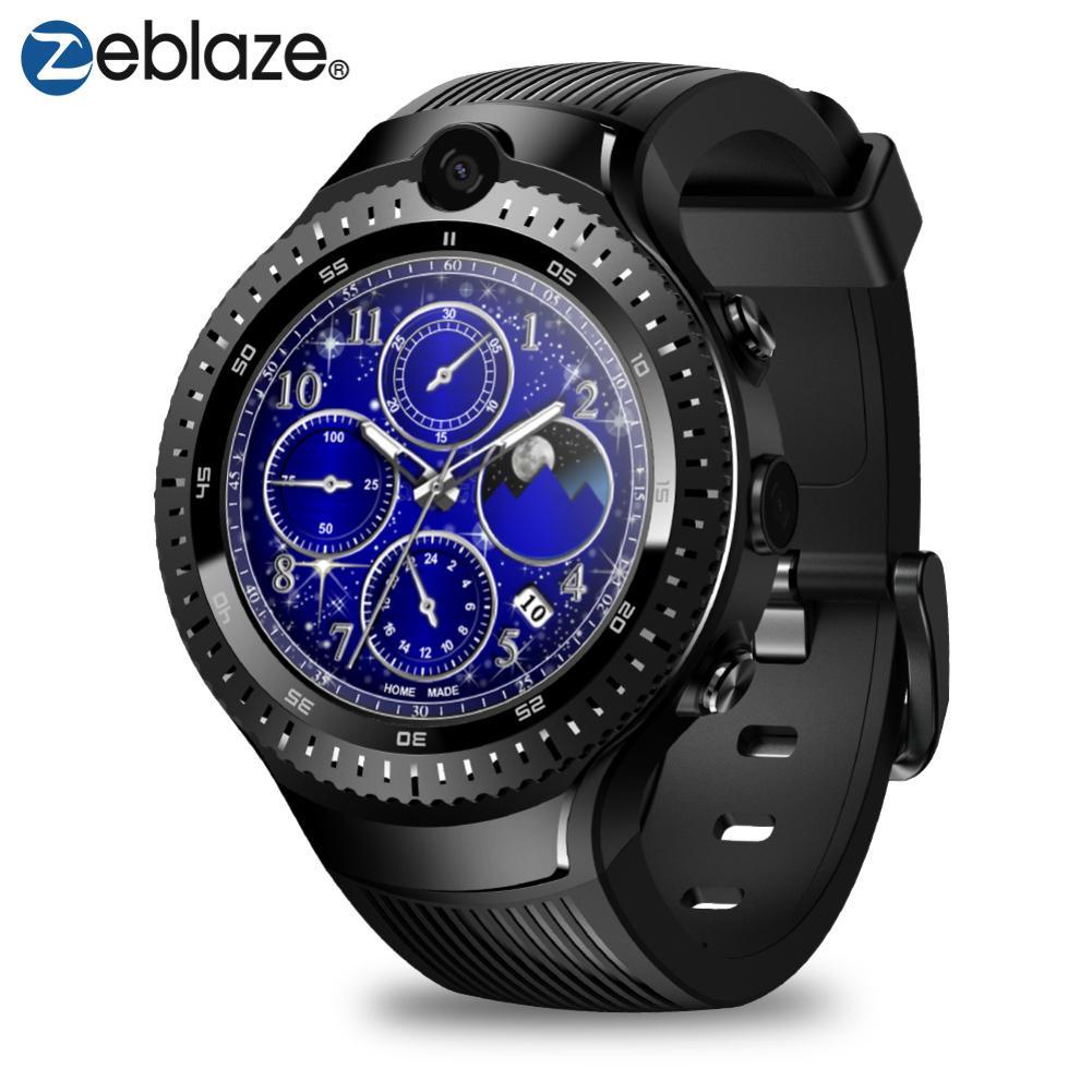 Zeblaze THOR 4 Double 1 + 16 GB Bluetooth Caméra Sport Montre Smart Watch pour Android iOS Double 5.0MP 4G réseau GPS/GLONASS