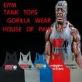 5 Pçs/lote Novo 2016 colete roupas de musculação e fitness homens undershirt tops ouros marca colete casuais bonito Orangotango