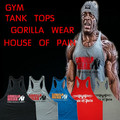 5 Unids/lote Nuevo 2016 chaleco ropa culturismo y fitness hombres undershirt tank tops golds marca casual chaleco guapo Orangután