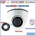 IMX323 Sensor 2.0MP CCTV camaras de vigilancia ip ONVIF 2.4 1080 p cámara ip 3MP HD Lente de Seguridad, 18 unids LED, H.264, IR-CUT, P2P