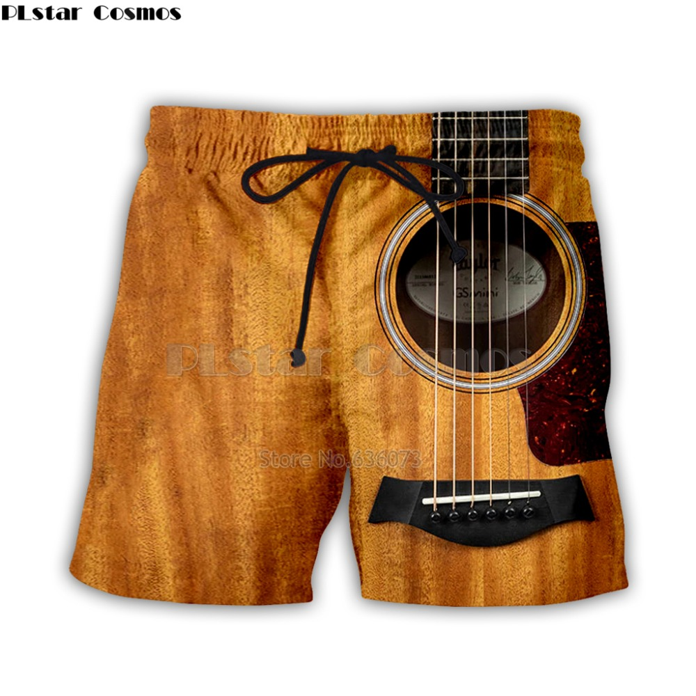 Guitar Art Musical Instrument 3d Full Printing Fashion Short Pant 3d Print Hip Hop Style Shorts Streetwear Casual Summer Style-1