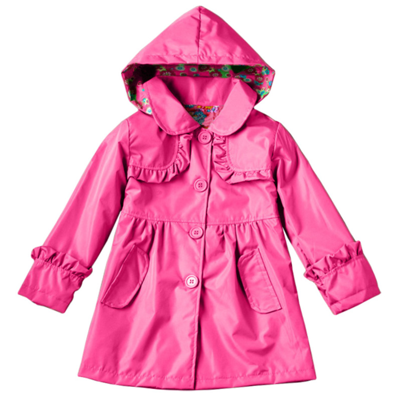 2018 Autumn Baby Girls Clothes Windbreaker Kids Outerwear Trench Coats Jacket For Girls Children Clothing Raincoats 3 5 7 Years