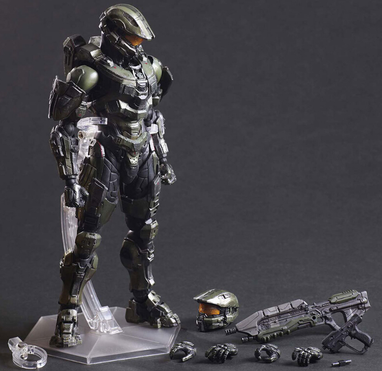 Halo Action Figure Playarts Kai Master Chief PVC Model Toy Anime Movie Model Play Arts Kai Halo 5 Figure Playarts Kai PA09 kingdom hearts play arts kai roxas sora pvc action figure toy 26cm movie game anime kingdom hearts ii playarts kai