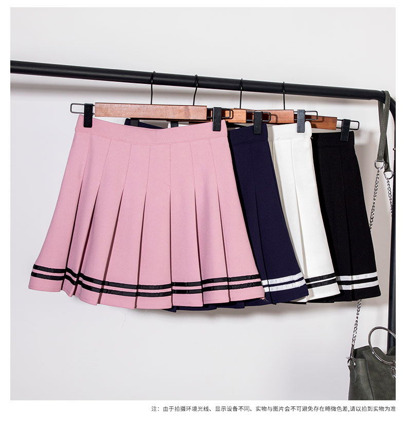 Fashion Korean Cosplay School Girl High Waist Pleated Skirt Harajuku Sexy Mini Skirt Women Short Saia Japanese Falda Jupe Femme