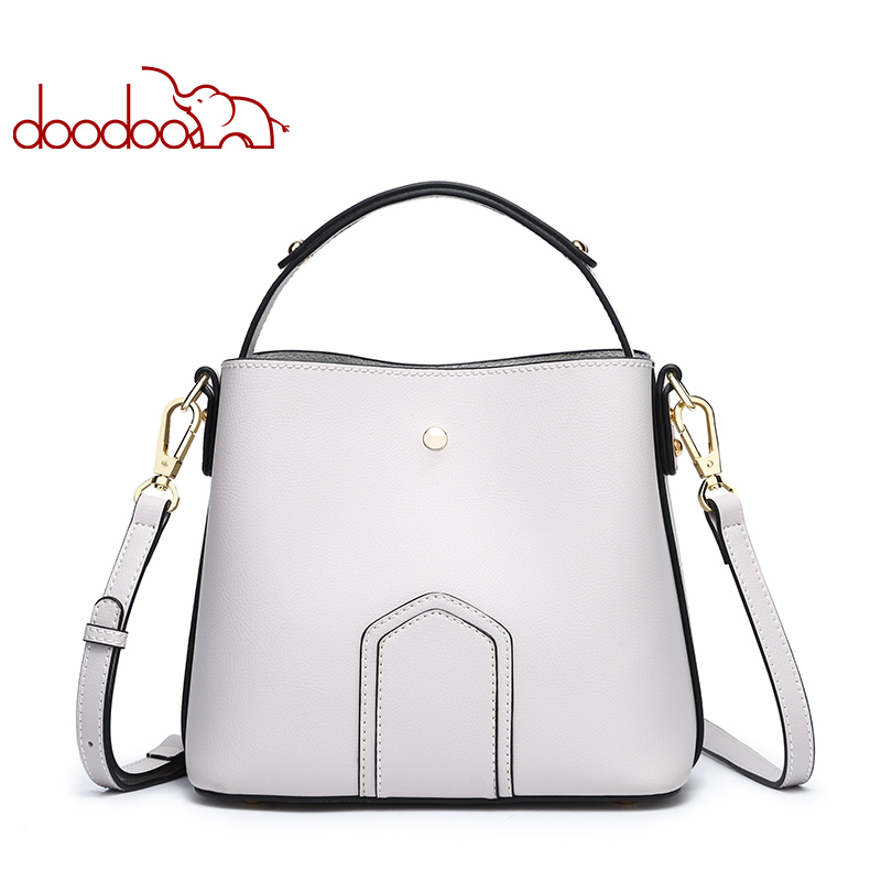 DOODOO Large Soft PU Leather Bag Women Handbags Ladies Crossbody Bags For Women Wide Shoulder Bags Bucket Double Shoulder Strap women wide shoulder strap leather handbag shoulder bag bucket chunky chain bag winter 2017 new female purse hand bags