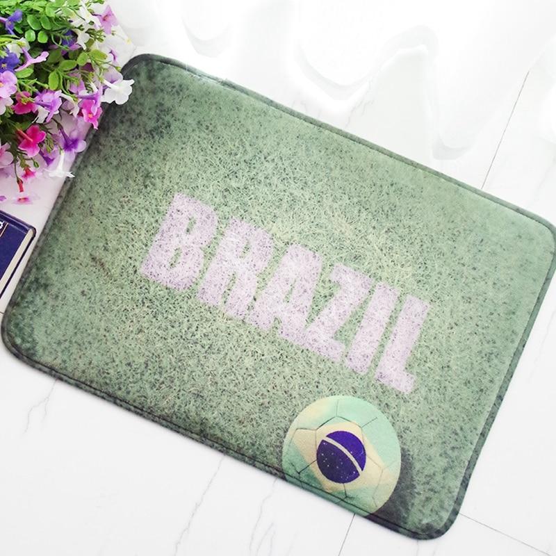 40*60cm/50*80cm Football Club Flannel Area Rug Doormat Door Floor Mats