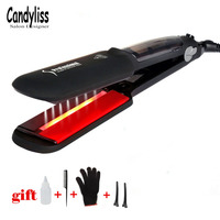 Professional Steam Hair Straightener Ceramic Vapor Hair Flat Iron Seam Hair Straightening Iron Curler Steamer Hair Styling Tool