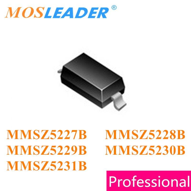 Mosleader 3000PCS SOD123 MMSZ5227B MMSZ5228B MMSZ5229B MMSZ5230B MMSZ5231B 1206 MMSZ5227 MMSZ5228 MMSZ5229 MMSZ5230 MMSZ5231