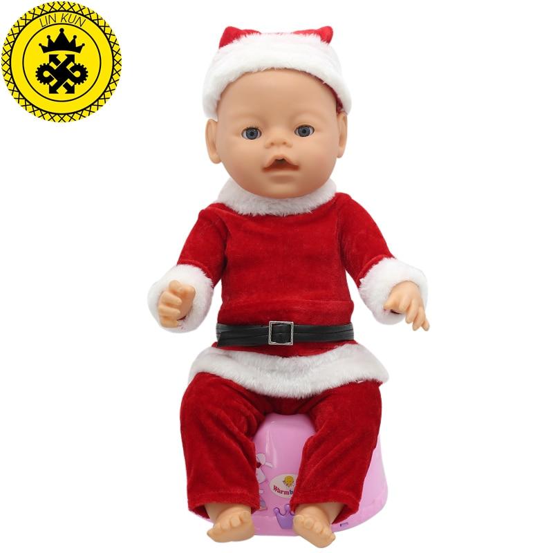 цены на Fit 43cm Baby Born zapf Christmas Suit Hat+Clothes+Pants Doll Accessories Leisure Clothes Children Christmas Happy Gift 029 в интернет-магазинах