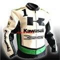 Мотоцикл езда одежды кожаная куртка ветер падение доказательство одежды PU материал качество гоночной куртке для Kawasaki