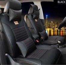 Marca de cuero negro Cubierta de Asiento de Coche asiento Delantero y Trasero completo para TOYOTA Camry RAV4 Corolla Prius Highlander PRADO cojín cubre