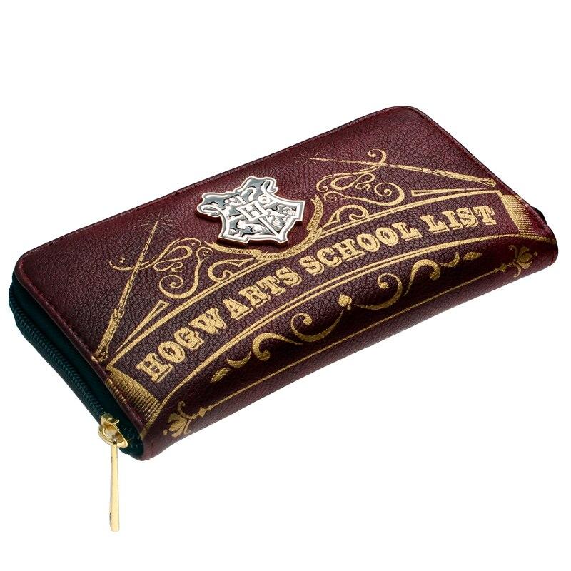 Harry potter Letter Zip Around Wallet Designer Brand Bordeaux red Metal badge Purse Lady Party Wallet Female Card Holder