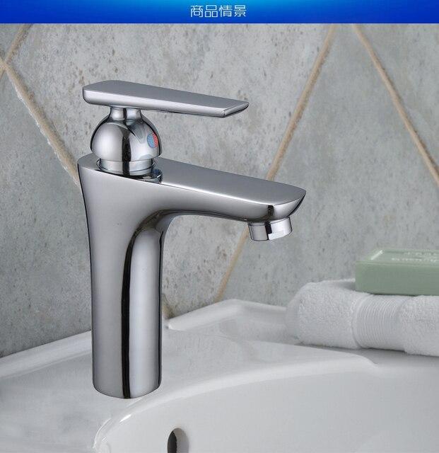 Cromo lucido bacino rubinetti con hot cold bagno lavandino rubinetti ...