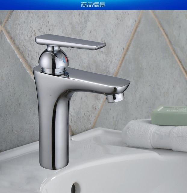 Gepolijst chroom wastafel kranen met hot koude goedkope badkamer ...