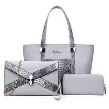 Luxury Handbags Women Bags Designer PU Leather Composite Bag Set Women s Serpentine Shoulder Tote Bag
