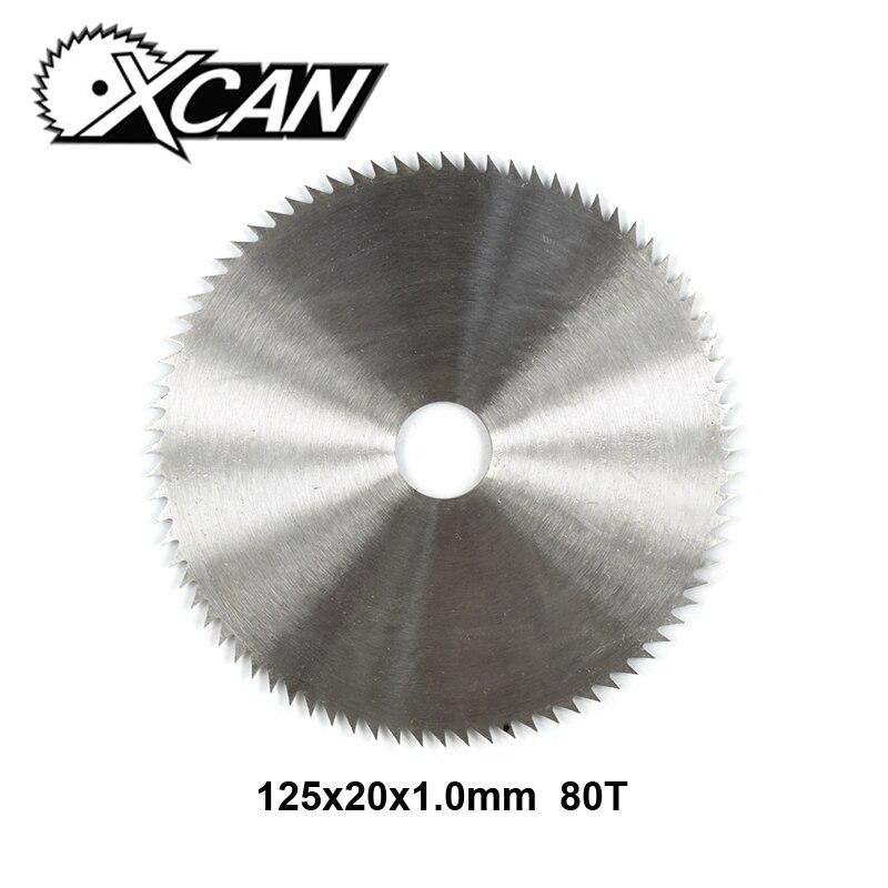 XCAN 1pc 125x20x1.0mm 80T Manganese Steel Wood Circular Saw Blade For Wood Cutting Wood Saw Blade Disc