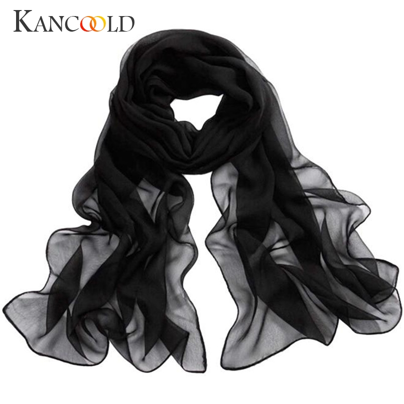 Hot 2017 New scarf 11 candy color Women Long Soft Thin Wrap Lady Shawl Chiffon Scarf Bea ...