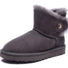 ฤดูหนาวรุ่นหญิงหนังแกะรองเท้าหิมะ/เลดี้หนังแบนต่ำกระบอกรองเท้า/รองเท้าหิมะอุ่น/จัดส่งฟรี