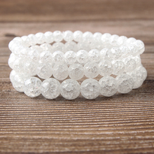 Lingxiang 6/8/10/12mm Crystal explosion glass bracelet is transparent white and suitable for women to wear beaded jewelry inter step is tg sama71fsw 000b201 transparent white
