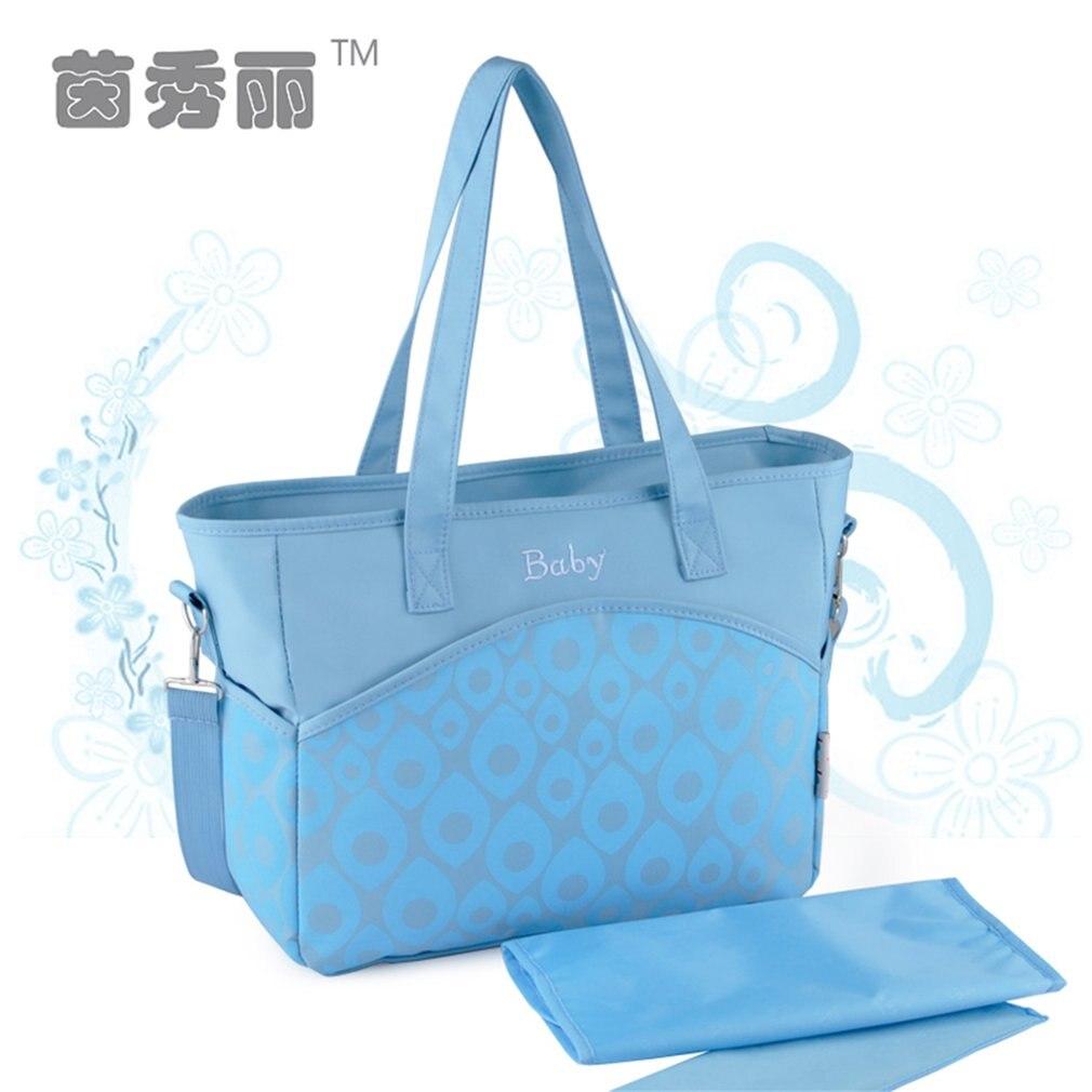 INSULAR Diaper Bag Shoulder Bag Mommy Expectant Package Baby Bag Large Capacity Popular Elements Inclined Shoulder Bag Portable ...