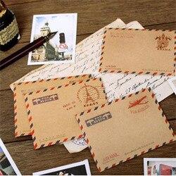 10 шт./партия Мини Ретро Винтажные крафт-бумажные конверты корейский канцелярский подарок