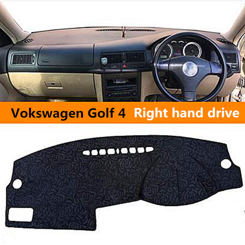 Right hand drive Car dashboard cover for Volkswagen Golf 4 Pretty Rose design Auto dashboard Mat for Volkswagen Golf 4 3colors
