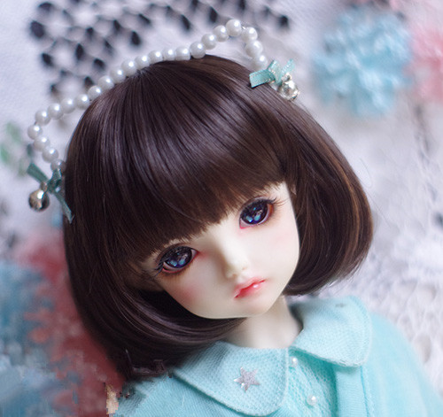 High temperature wire dark brown wigs with pear curly available for 1/6 1/4 1/3 BJD SD DD MDD doll accessories for dolls
