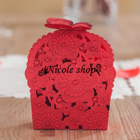 10psc Wedding Candy Box Bag Beauty Sweet Hollow Out Gift Box Wedding Decoration Diy Mariage Gifts for Guests Party 72x43x100mm