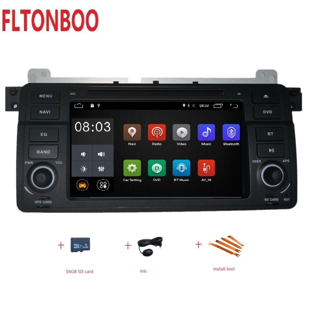 7 Android 9 for bmw E46 M3 car dvd gps navigation wifi radio bluetooth Steering wheel