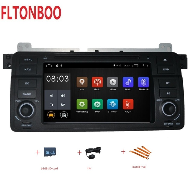 """7""""  Android 9  for bmw E46,M3,car dvd,gps navigation,wifi,radio,bluetooth,Steering wheel Canbus Free 8g Map,MIC,touch screen"""