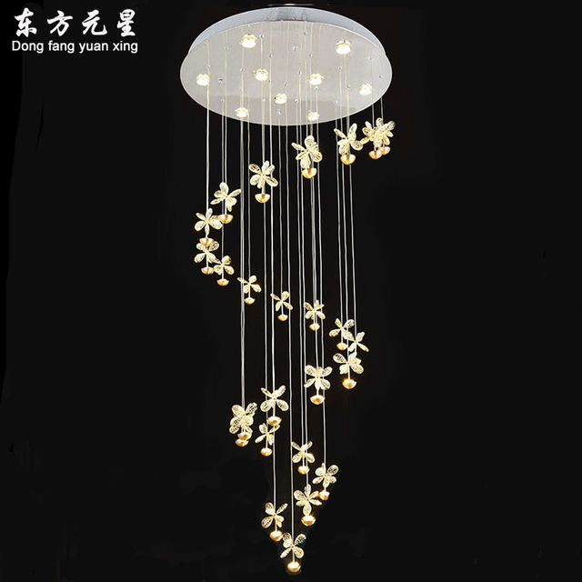 Online shop spiral stair chandelier lamp villa living room hotel spiral stair chandelier lamp villa living room hotel lobby crystal hanging light creative led lighting decorations mozeypictures Gallery