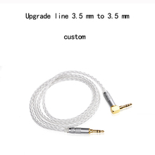 Wire woo 7N OCC 8 Croes Silver-plated AUX HIFI Earphoneplug 3.5mm jack Stereo head-mounted Cable Headphone cable with 1 5m 5ft handmade 8 core 4n occ flat braid silver plated headphone cable upgrade cable for hifiman he 5 he 6 he 400 he 500