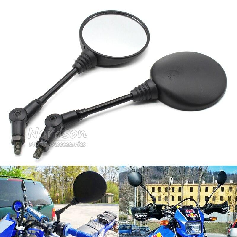 Schwarz Custom Faltung Spiegel Seite Spiegel Motorrad Universal Moto Rückspiegel Für Honda Suzuki Yamaha ATV Zubehör