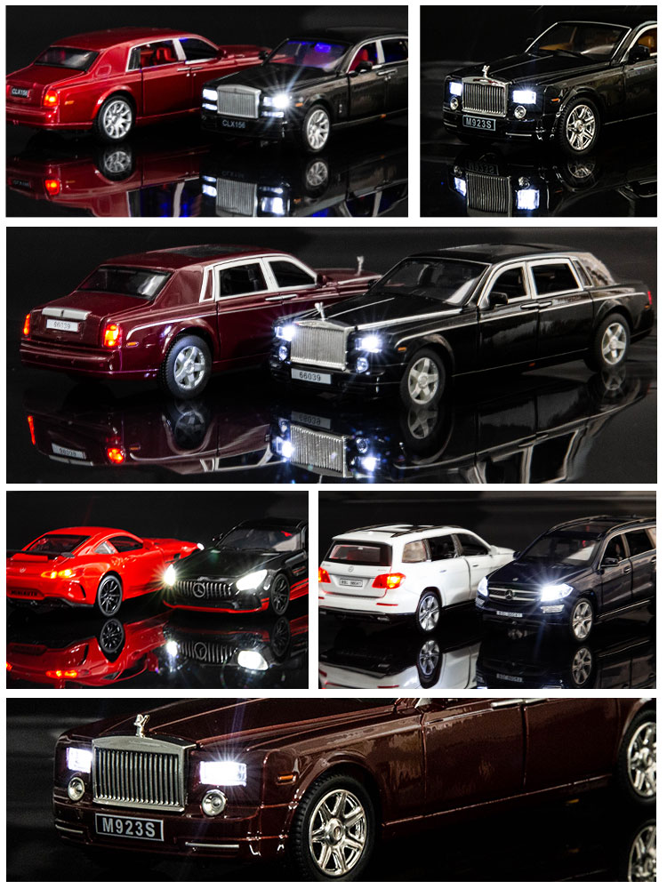 Rolls-Royce Model  Toy Car Mercedes-Benz Simulated Alloy Car Model Arrangement MaybachAudi Toyota Cool RoadMercedes