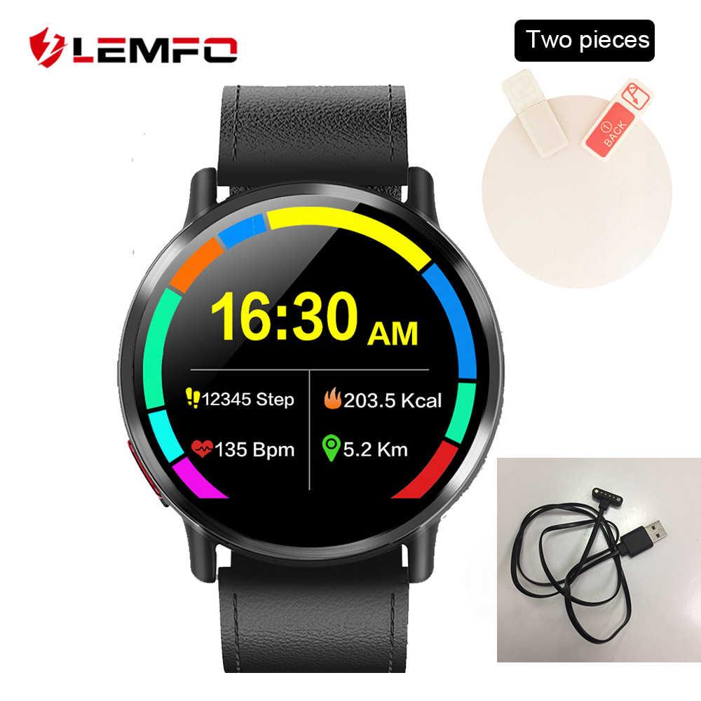 LEMFO, accesorios para reloj inteligente, Cable de carga, Protector de pantalla, correa de cuero de repuesto, pantalla para LEM X LEMX