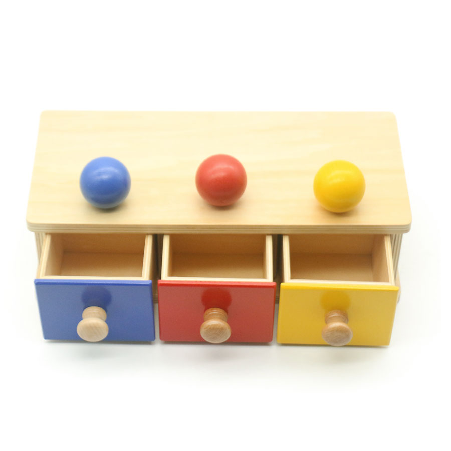 Montessori jouets sensoriels éducatifs jouets d'apprentissage pour enfants trois couleurs correspondant boîte à objets Juguetes Montessori ME2944H