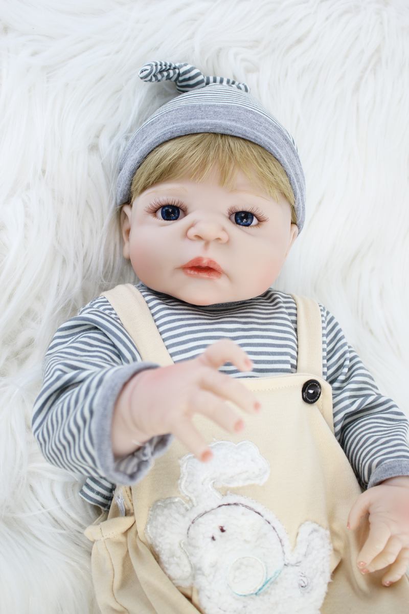 55cm Full Silicone Body Boy Reborn Doll Toys Newborn Babies Doll Birthday Gift Kids Bathe Toy Girl Baby Alive Bonecas Play House