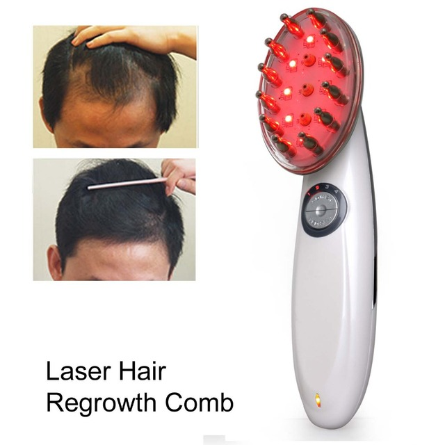 Hair Regrowth Laser Comb 12W LED Infrared Laser Hair Massager Daily Hair Care Tools For Men Women