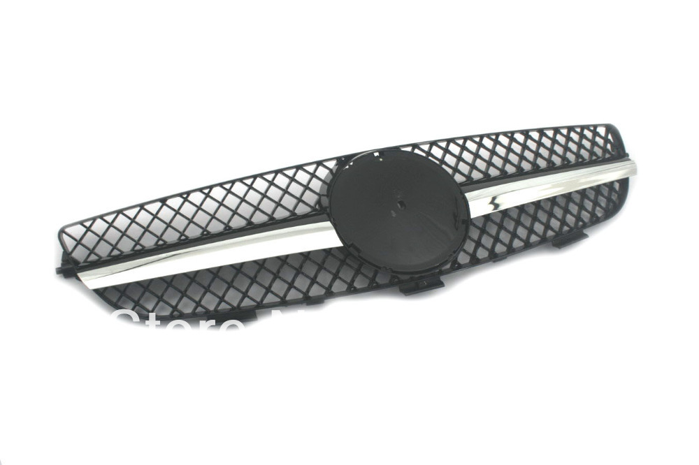 Replacement front center grille in black style for for Mercedes benz spare parts price list