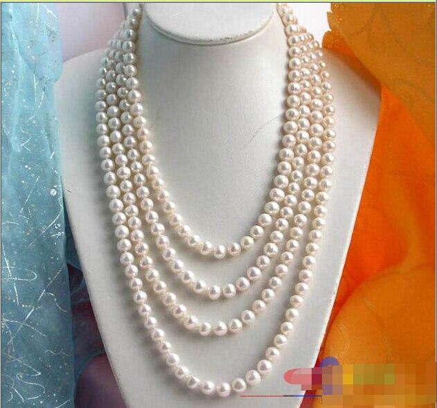 LONG 100 10 MM rond blanc FW collier de perles de culture ^ ^ ^ @ ^ Noble style naturel fin jewe livraison gratuiteLONG 100 10 MM rond blanc FW collier de perles de culture ^ ^ ^ @ ^ Noble style naturel fin jewe livraison gratuite