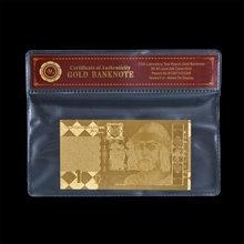 Billetes de aluminio de oro UAH, 1 dinero falso de oro de Ucrania, copia de moneda con COA, venta al por mayor y al por menor