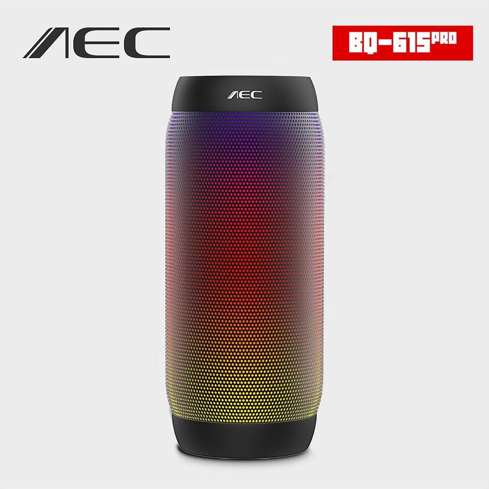 AEC BQ-615 PRO Colorful Luci LED Wireless Speaker Bluetooth HI-FI Speaker Stereo Super Bass Soundbar Supporto NFC Microfono Radio FM
