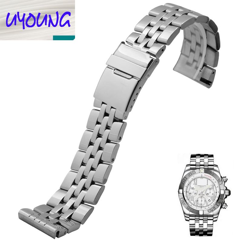 Stainless steel watchband A3733012 Folding buckle Solid stainless steel watchband Universal interface Watch accessories
