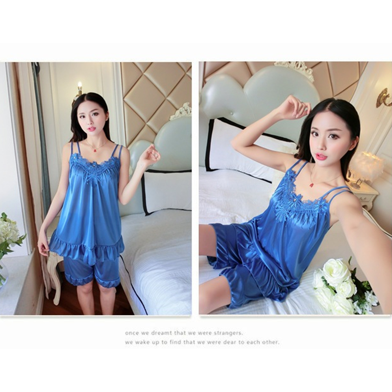 Hot Sale   Nightgowns   &   Sleepshirts   Women Summer Style Bathrobe Sleepwear Sexy silk female lace Large size Nightdress wholesale