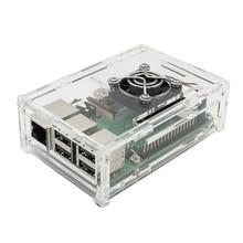 4 in 1 Raspberry Pi 3 Model B+ Board + acrylic Case + Cooling Fan + Heat Sink Kits / Starter Kit цены