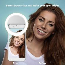 New USB Charge Selfie Portable Flash Led Camera Phone Photography Ring Light Enhancing Photography for PC iPhone Smartphone