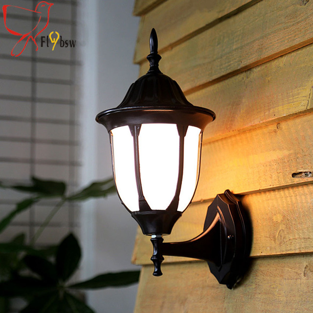 Europe outdoor retro wall l&black iron outdoor waterproof wall sconcesacrylic l&shade vintage & Europe outdoor retro wall lampblack iron outdoor waterproof wall ...