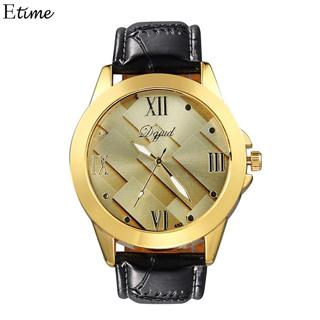 Watches Responsible Fanala Men Watch Fashion Synthetic Leather Band Round Analog Quartz Wrist Business Watches Men Relogio Masculino Curing Cough And Facilitating Expectoration And Relieving Hoarseness